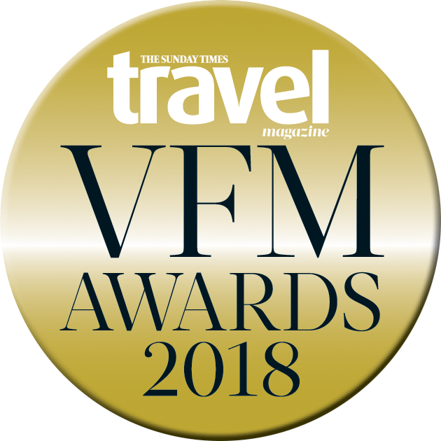 Sunday Times Travel Magazine Value for Money Award 2018