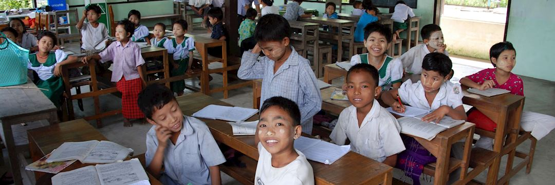 Pupils at Paya Ngoto School, Burma