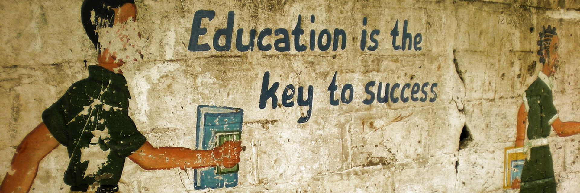 A mural in Africa highlighting the importance of education