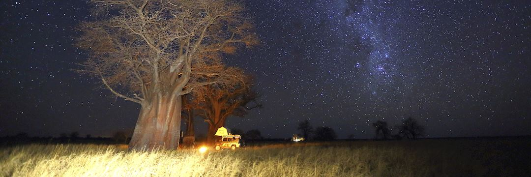 Mobile camping in Botswana