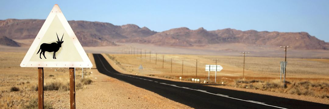 Tar road in Namibia