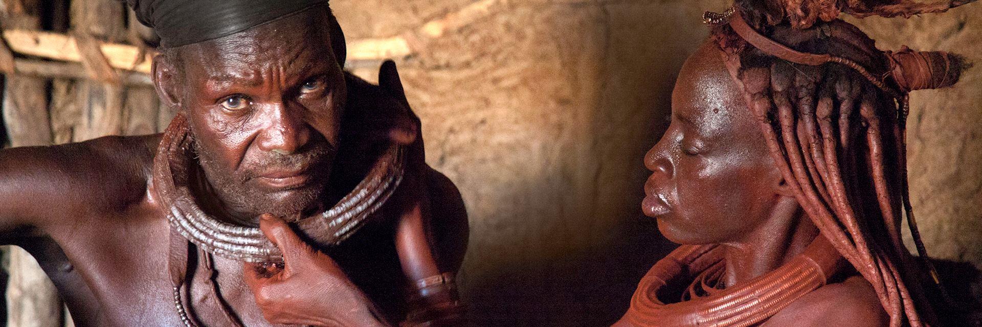 Himba couple, Kaokoland