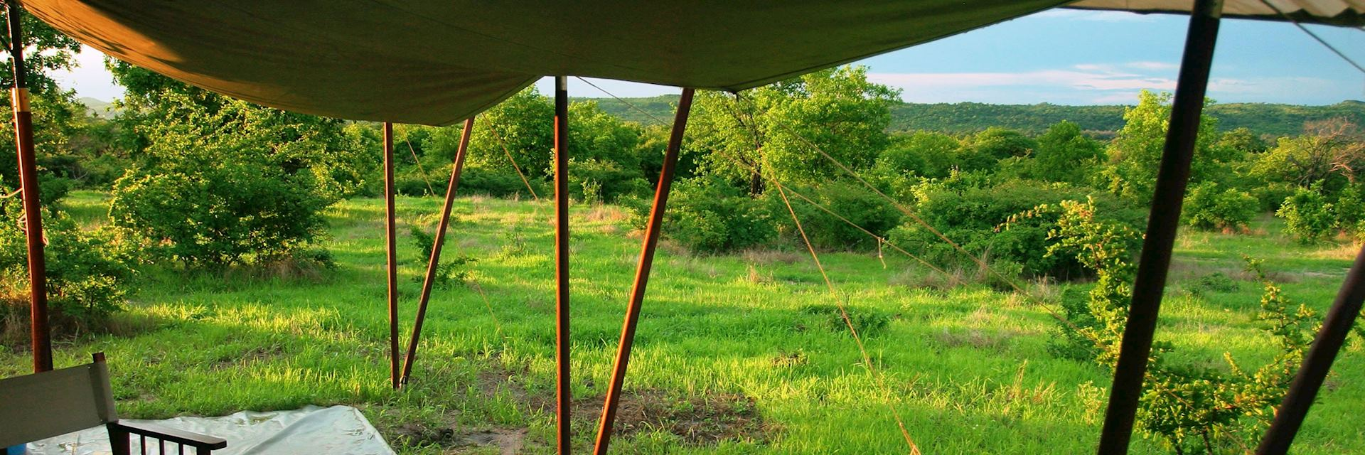 The tented camp of Kwihala in Ruaha National Park