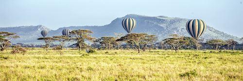 Balloons over the Serengeti National Park