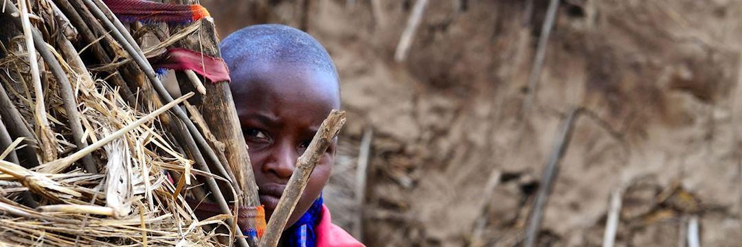 Shy Maasai boy, Ngorongoro Conservation Area