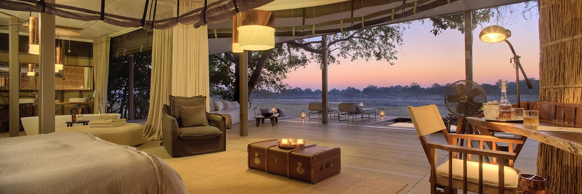 View from Chinzombo Camp, South Luangwa National Park