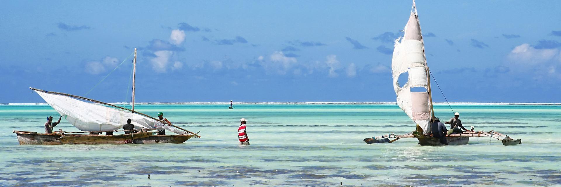 Fishing dhows in Zanzibar