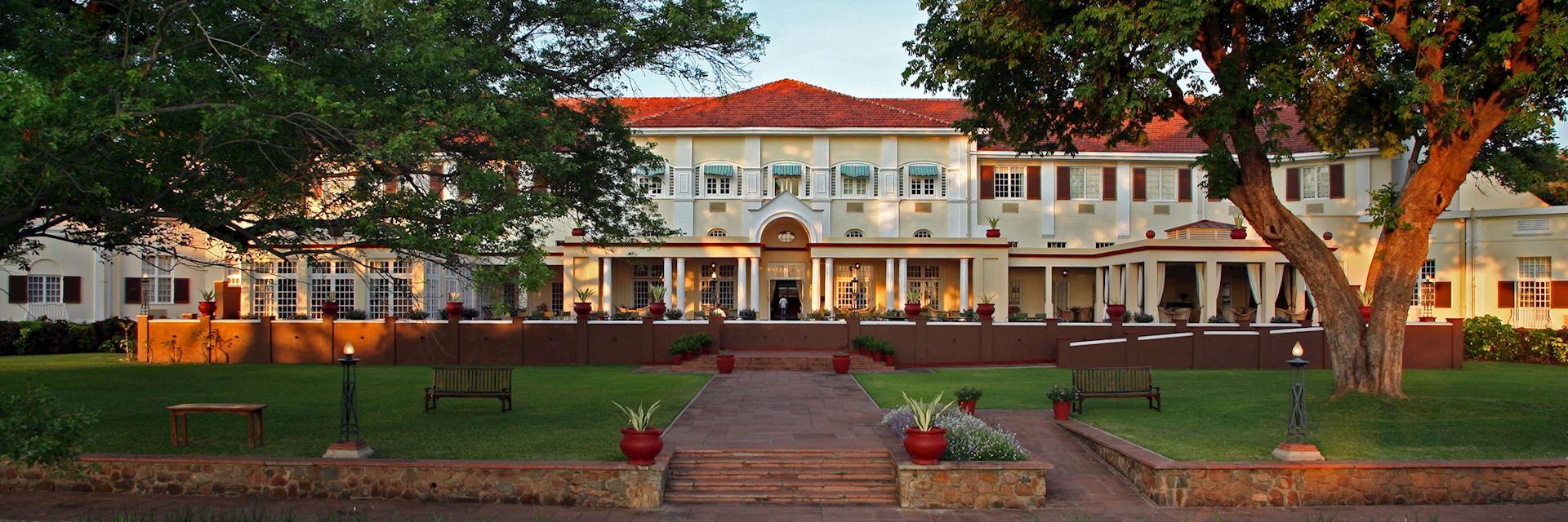 The Victoria Falls Hotel is a short walk from Victoria Falls