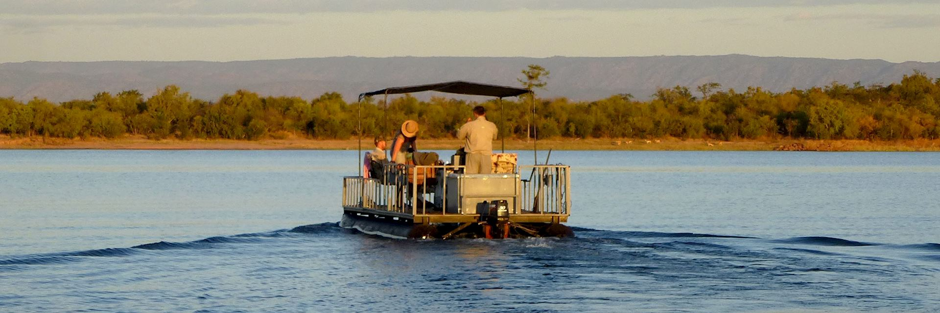 Evening boat safari from Musango Safari Camp, Lake Kariba