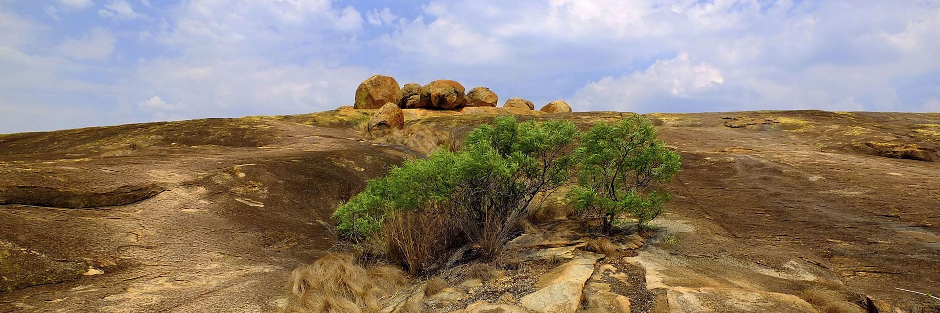 Balancing rocks in the Matobo Hills