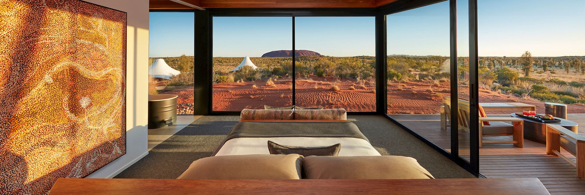 Longitude 131°, Dune Pavilion Bedroom