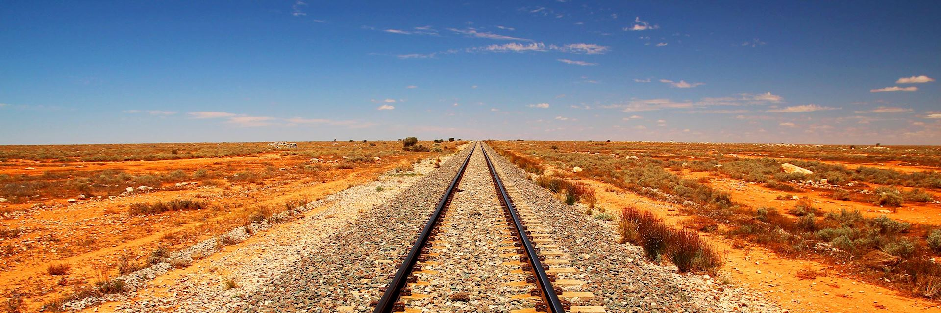 Train line in the Australian outback
