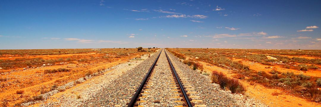 Train line in the Australian outback