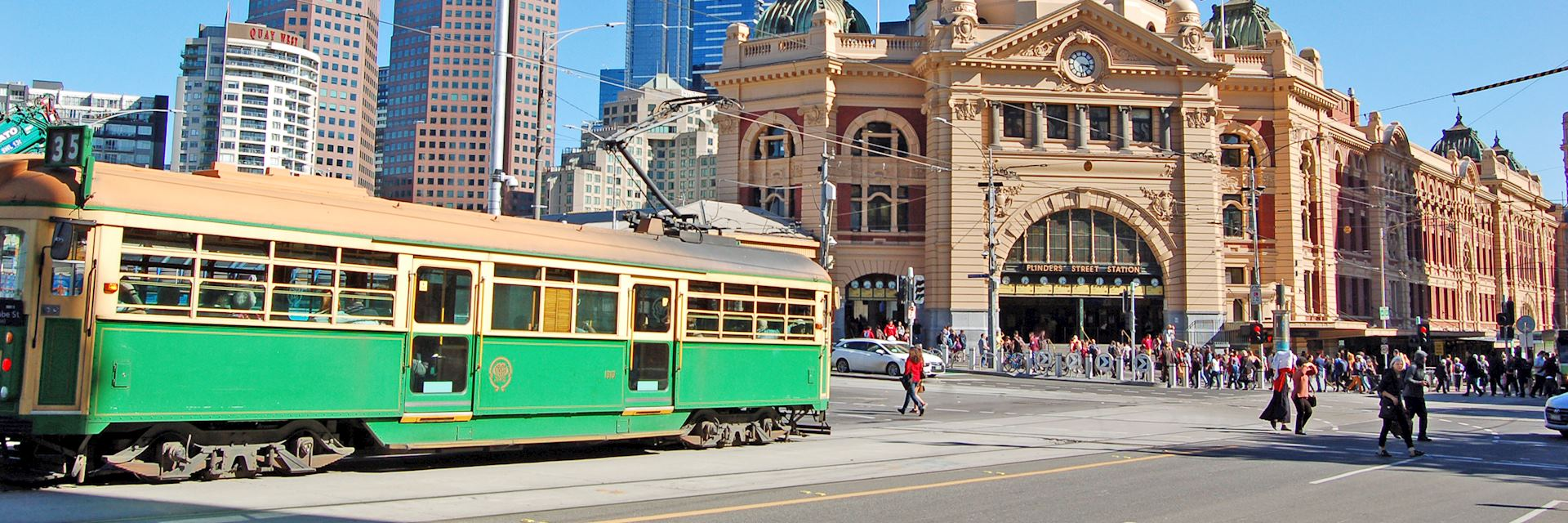 Tram at Flinders Street Station, Melbourne