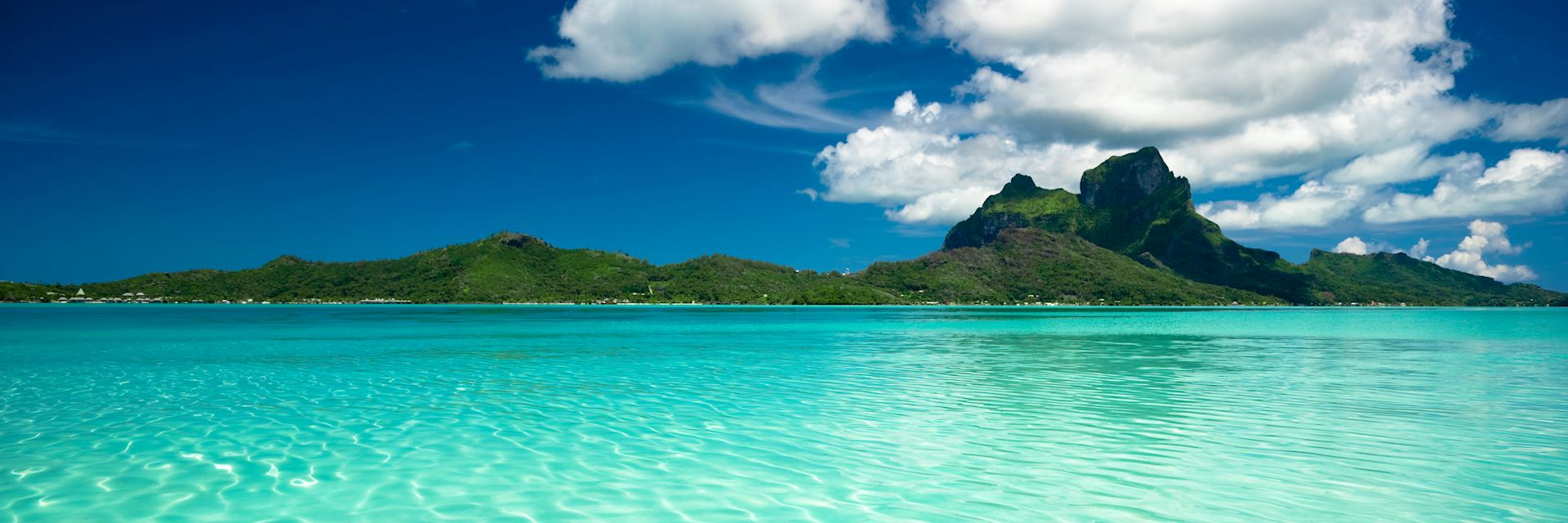 Clear waters off Bora Bora