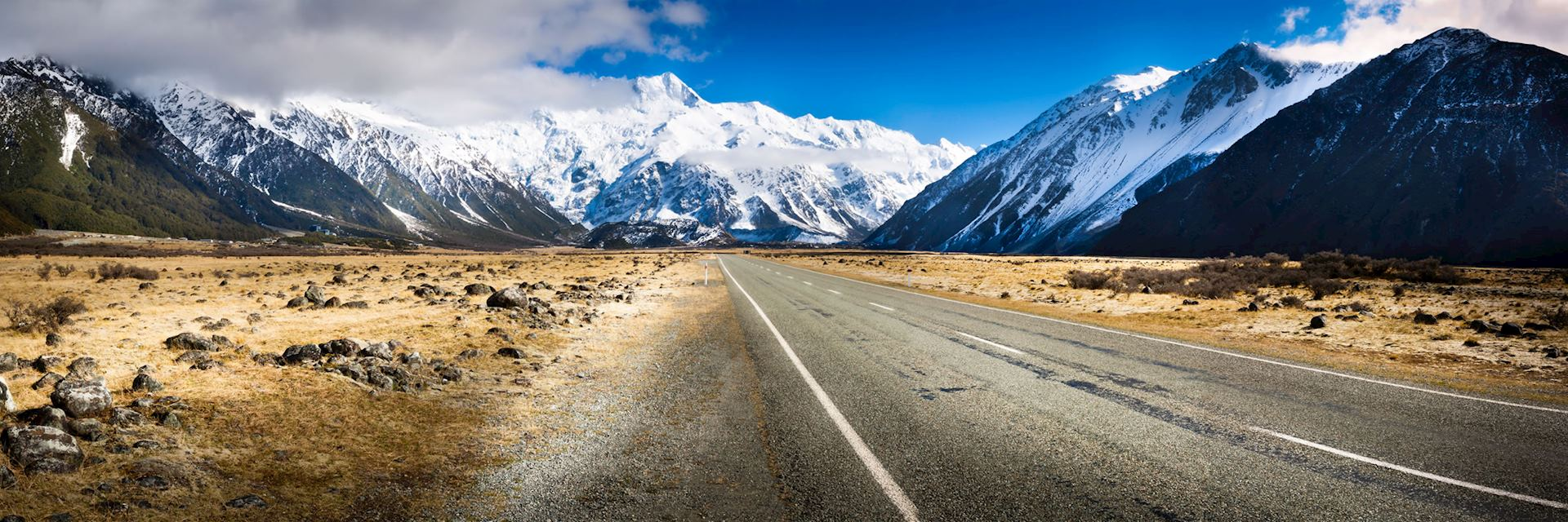 New Zealand road on the South Island