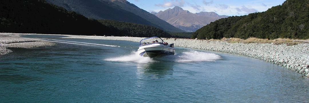 Jet boating on the Dart River