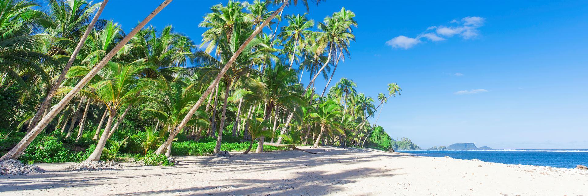 Pristine beach, Samoa