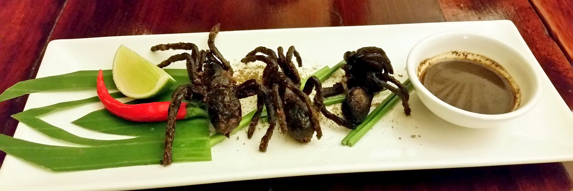 Deep fried spiders
