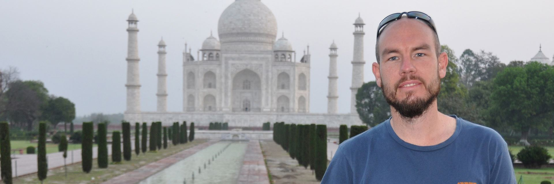 Graham at the Taj Mahal, Agra