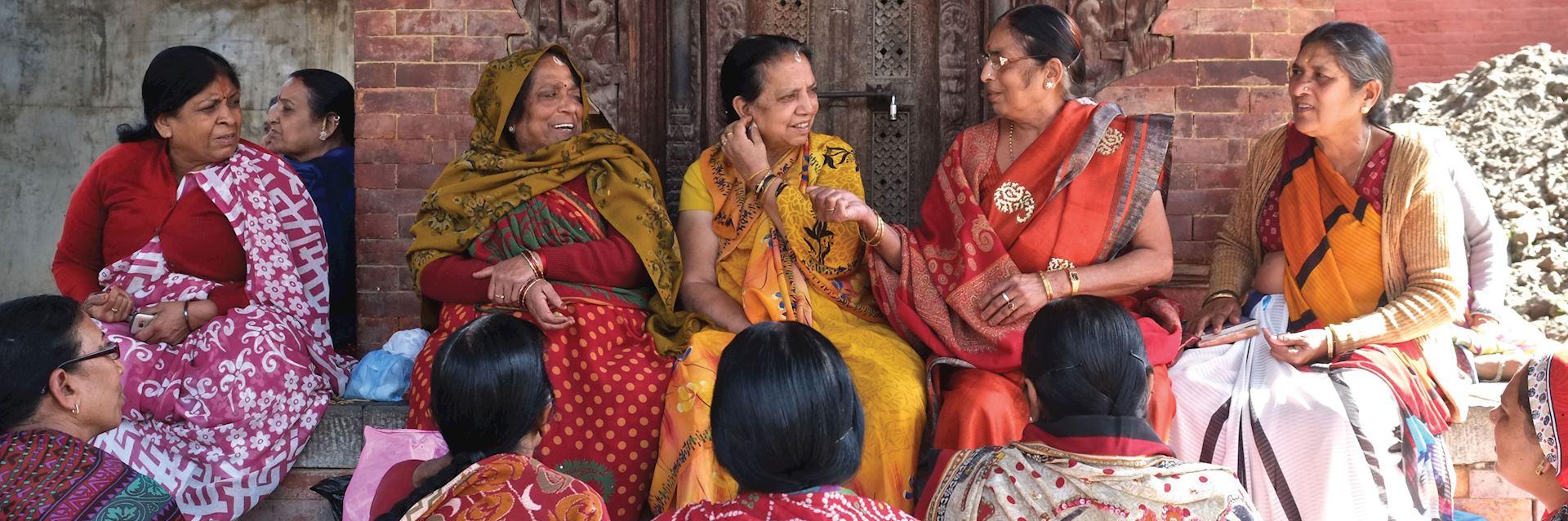 Women in Durbar Square, Kathmandu