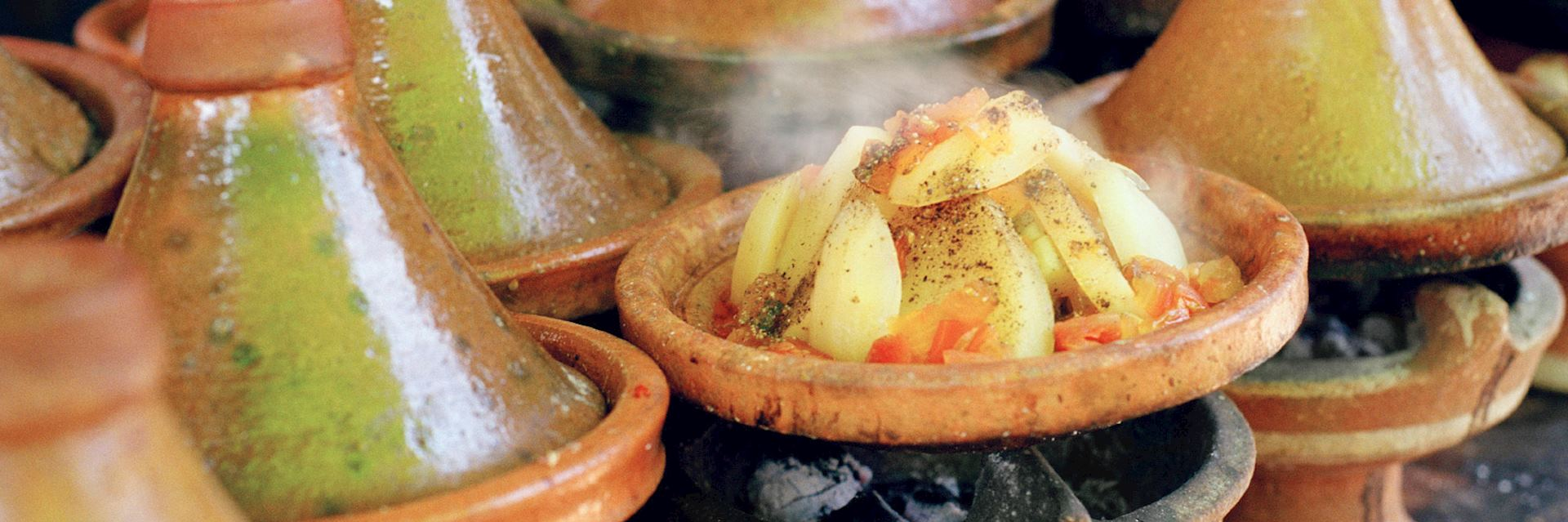 Cooking with tagines in Morocco