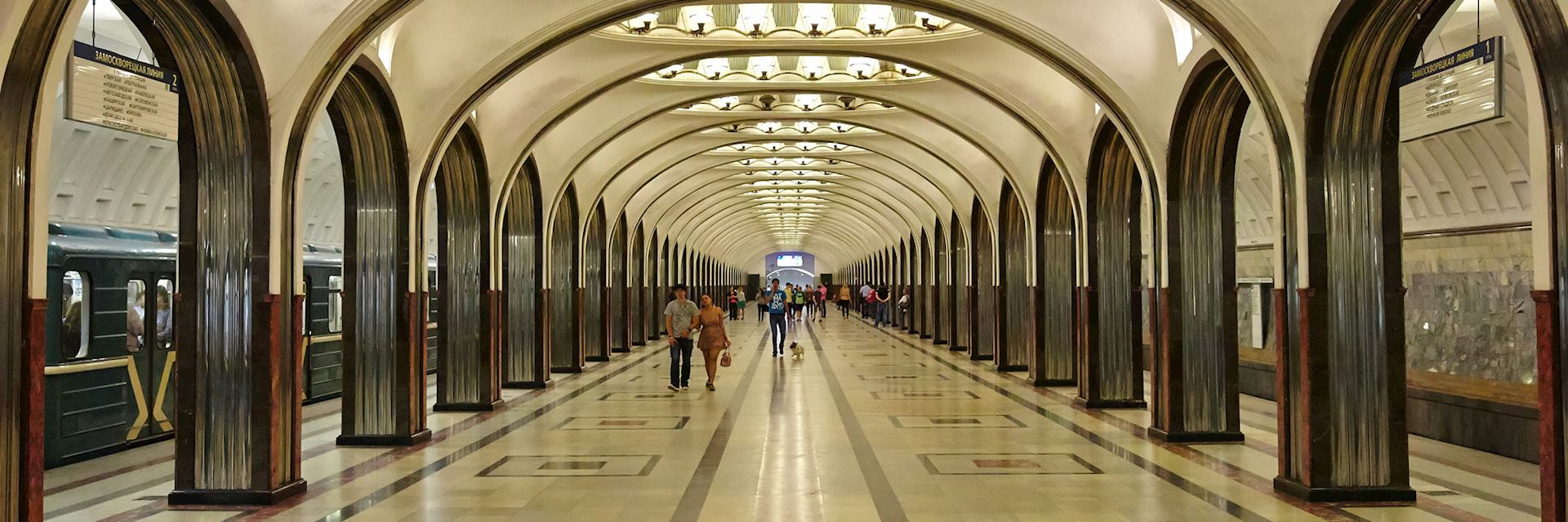 Underground station in Moscow