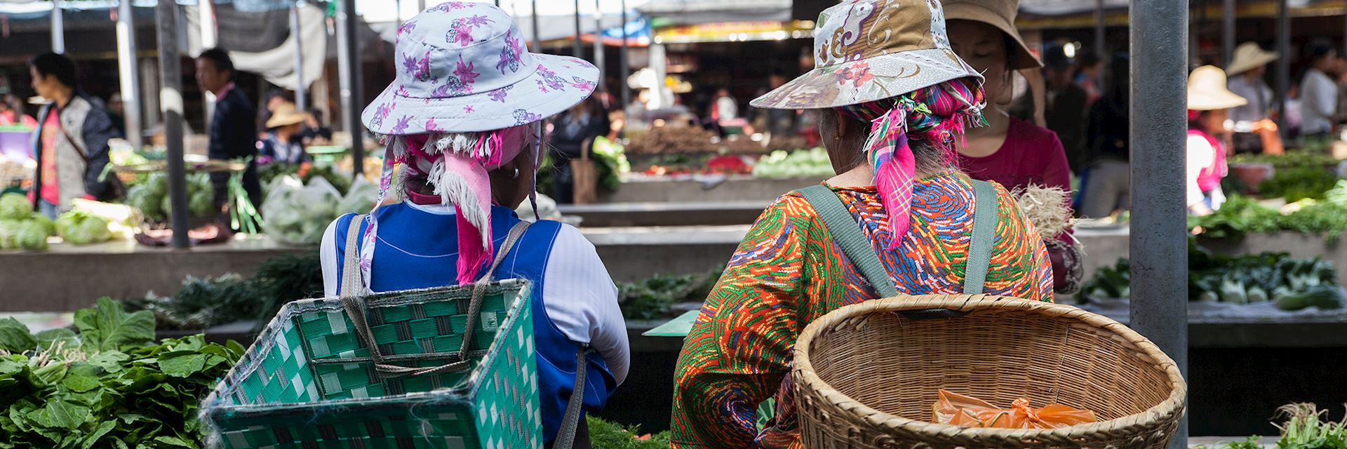 Local women at market