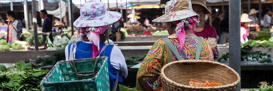 Local women at market