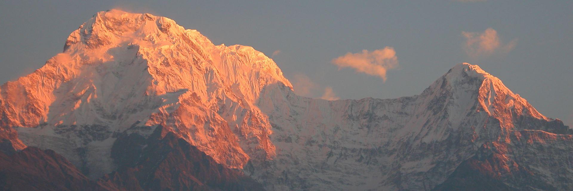 Sunrise from Gurung Lodge, Annapurna, Nepal