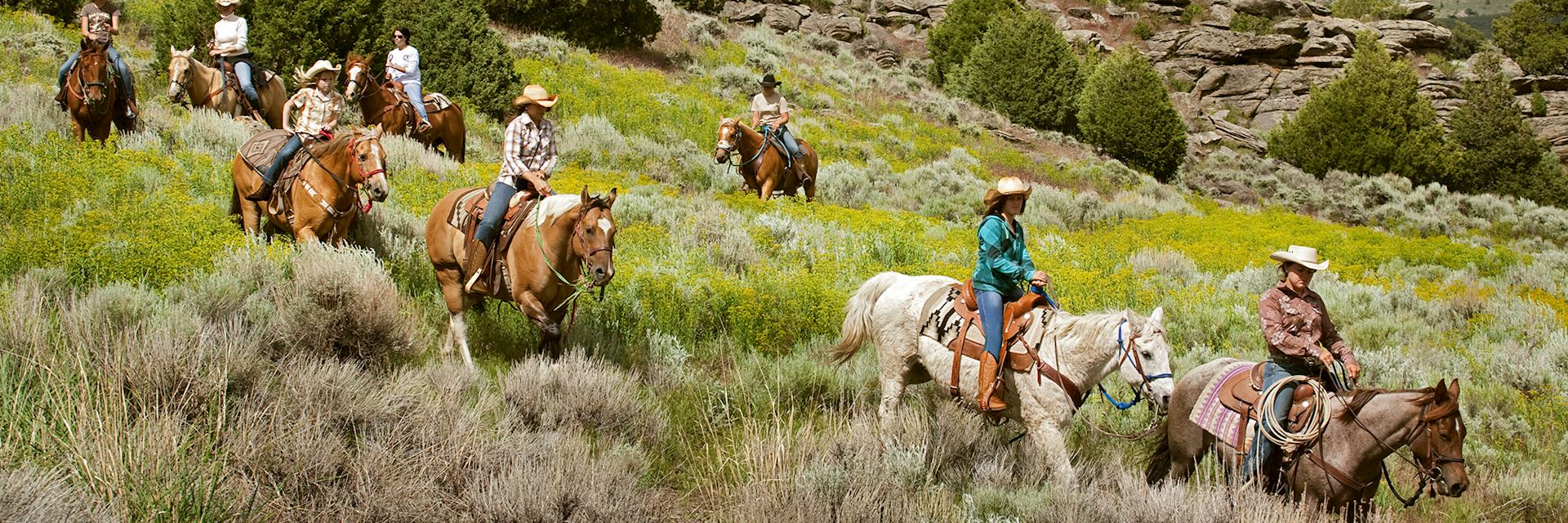 Riding at the Lodge & Spa at Brush Creek Ranch