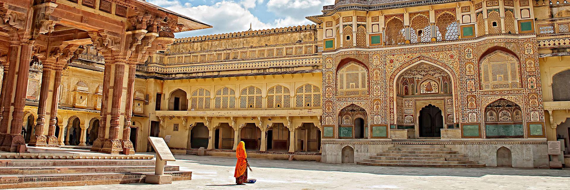 Decorated gateway, Amber Fort, Jaipur