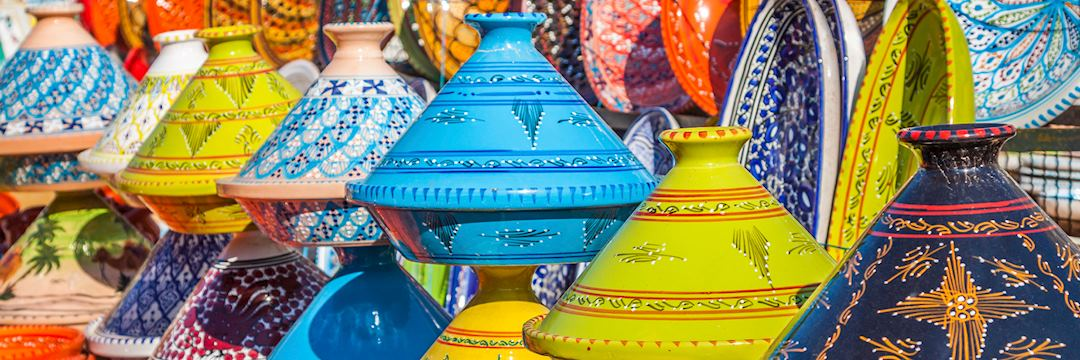 Tajines in the market, Marrakesh