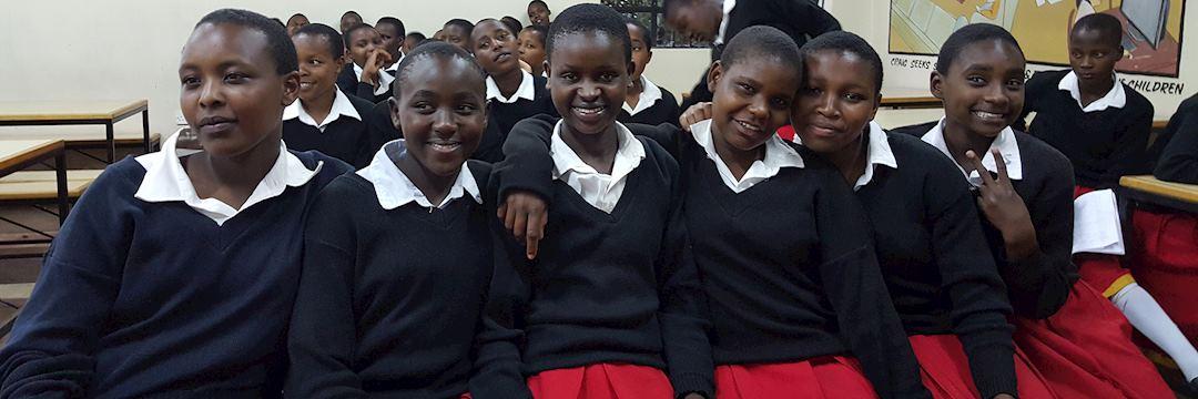 Girls at Kisaruni High School