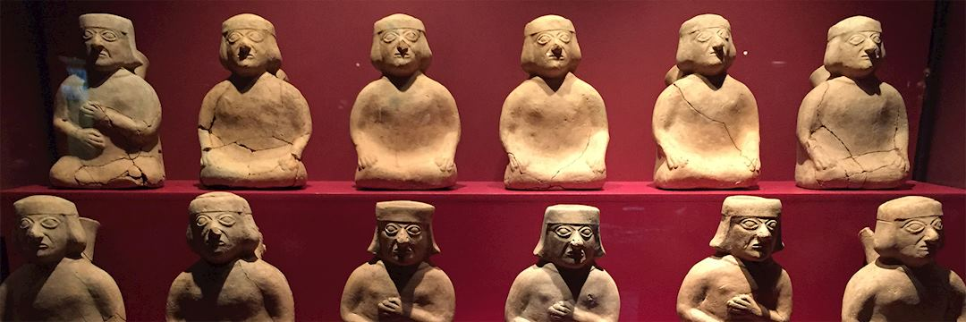 Pottery at the archaeological site of Sipan, Peru