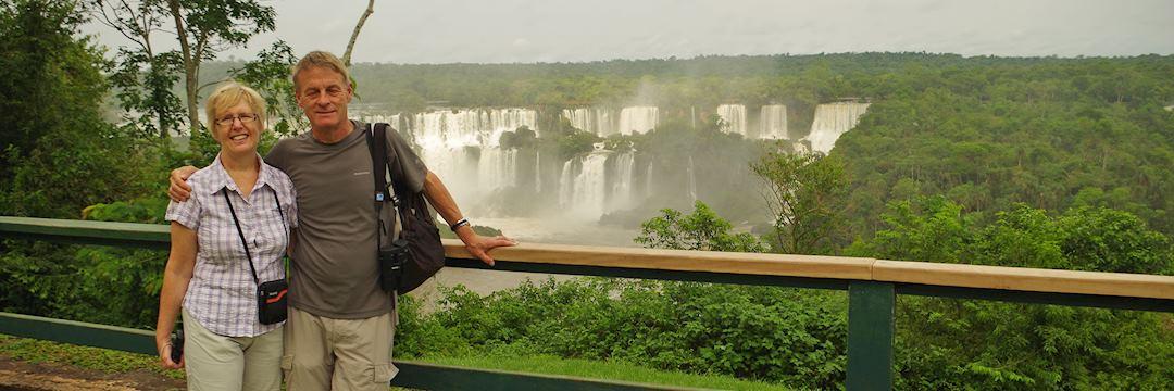 Dave and Ann Brierley at Iguaçu Falls