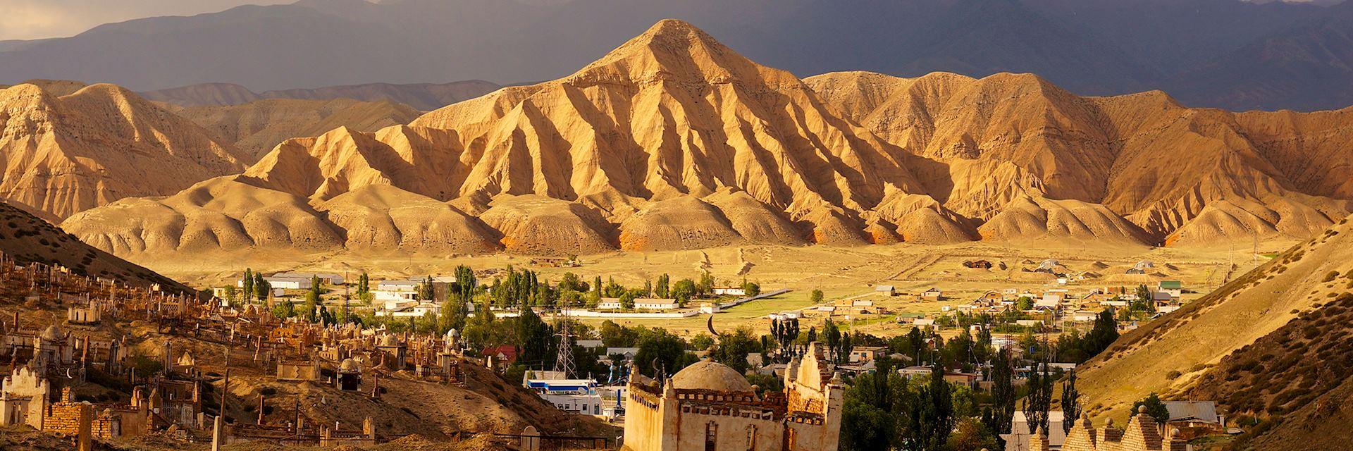Naryn town in Kyrgyzstan