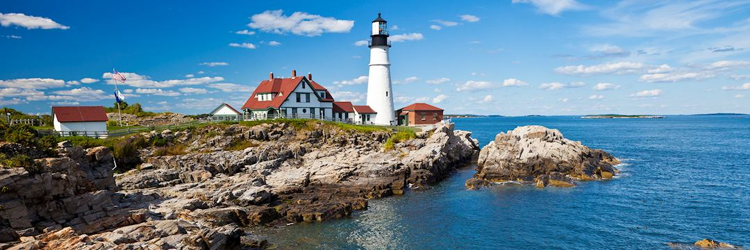 Portland Head Lighthouse In Maine, USA
