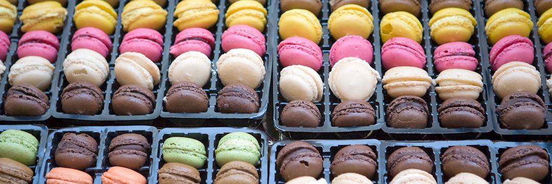 Macarons in a patisserie, Paris