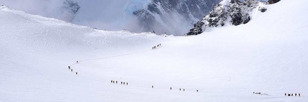 Passengers walking, Wilhemin Bay, Antarctica