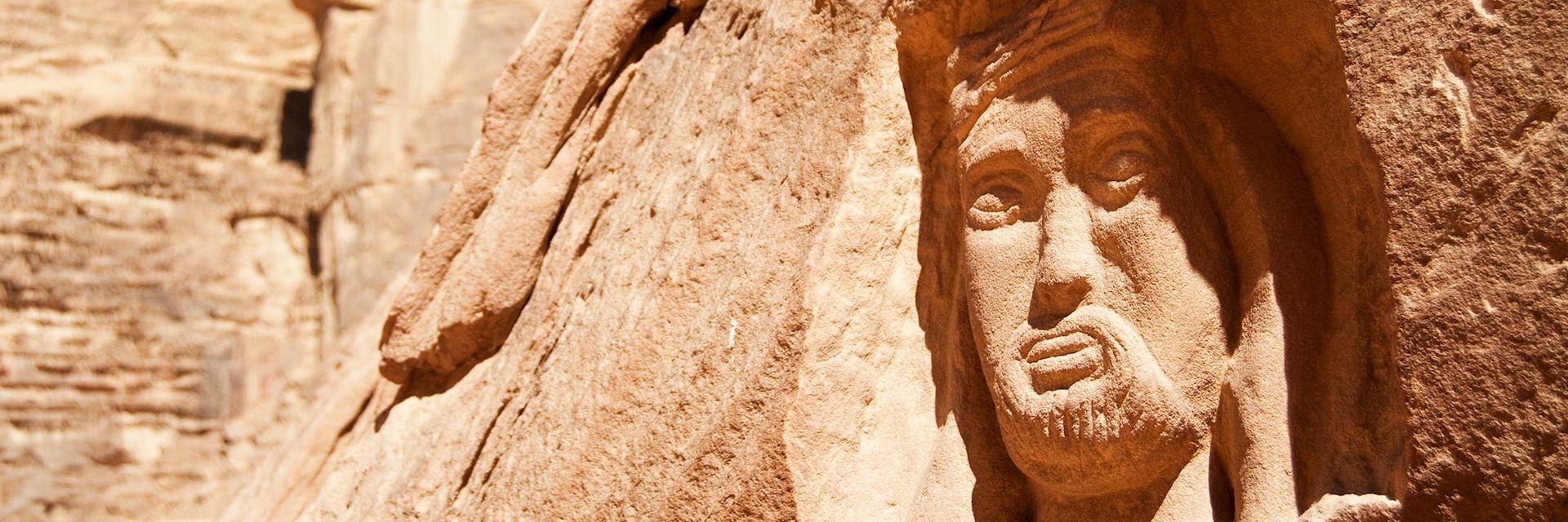 Carving of Lawrence of Arabia, Wadi Rum