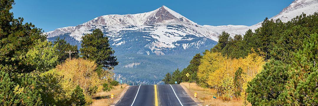 Highway in Autumn, Colorado