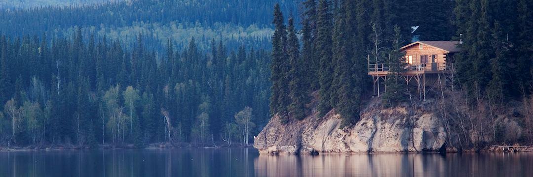 A wilderness lodge in Alaska