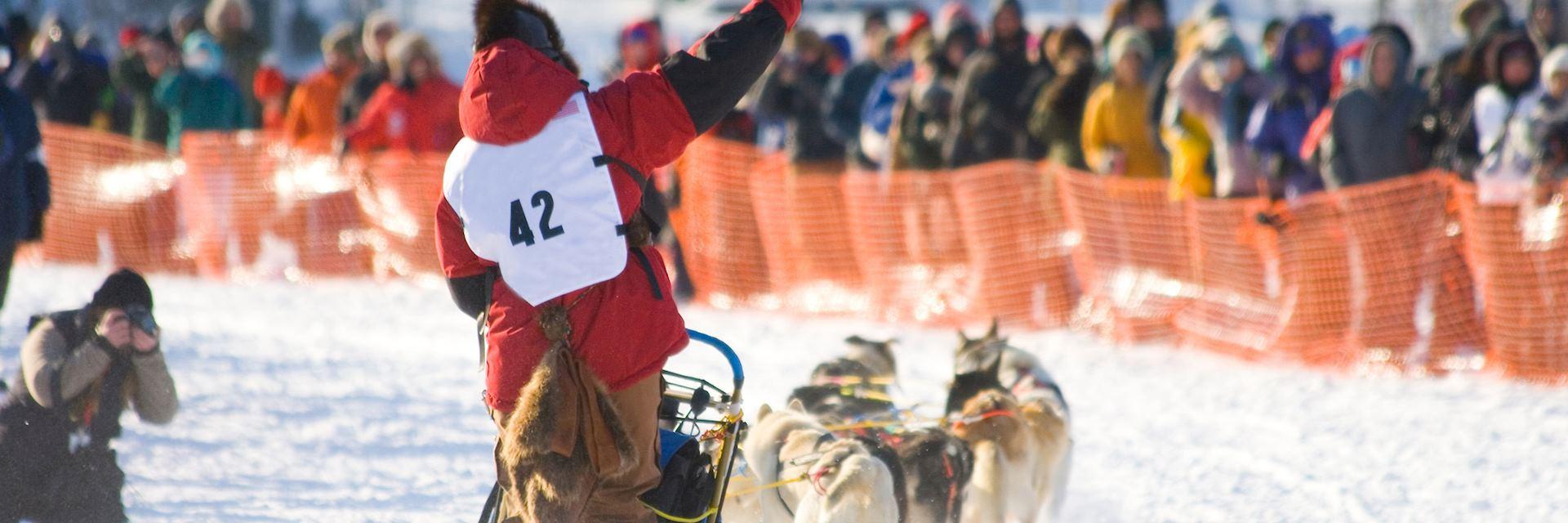 Sled race in Nome, Alaska