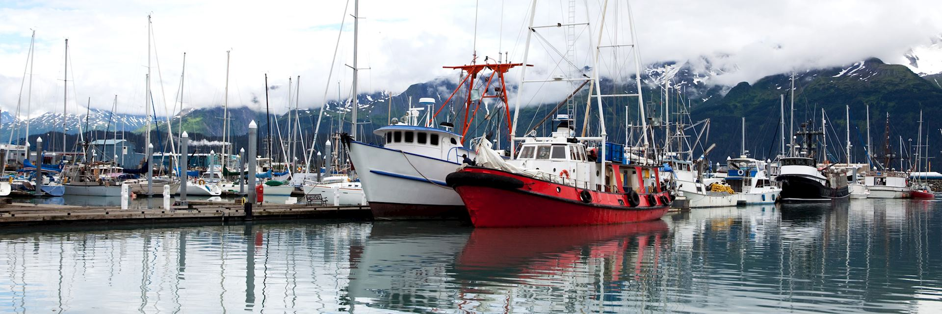 Fishing boats in Seward Harbor, Alaska