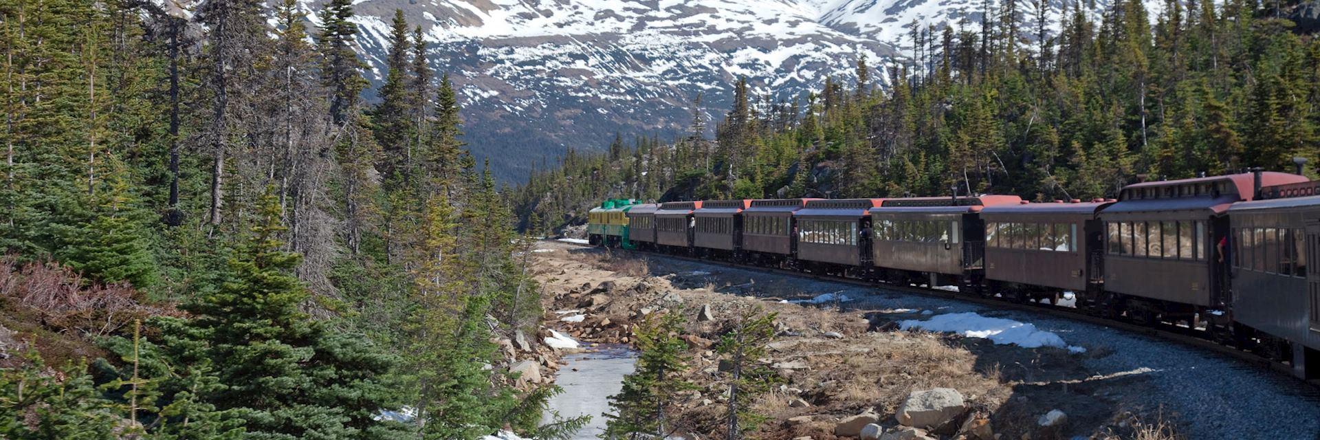 The White Pass Railway to Skegway, Alaska