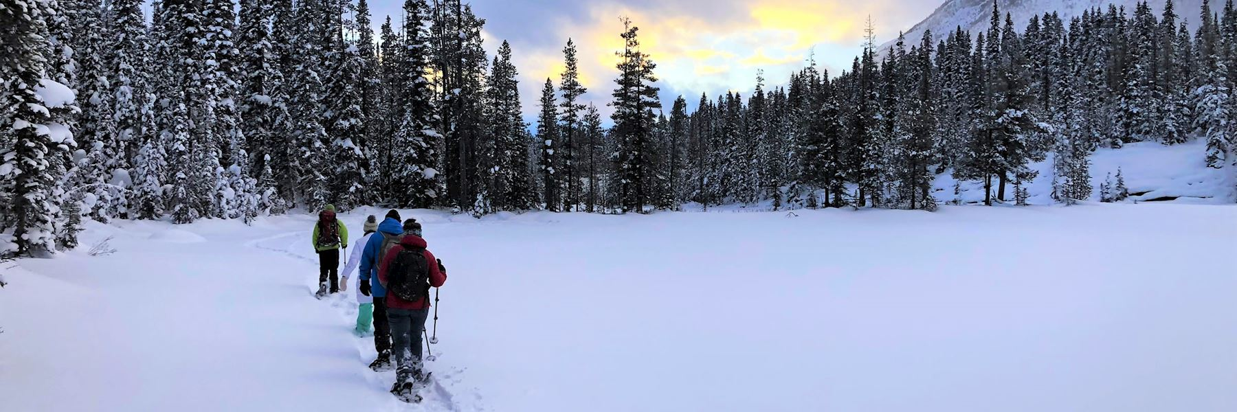 Snowshoe adventure at the Continental Divide