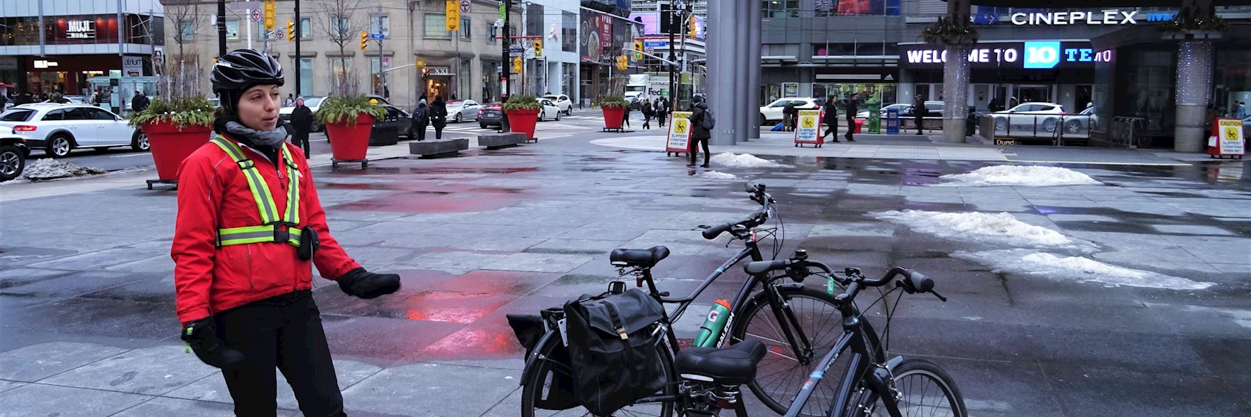 Downtown Toronto winter bicycle tour