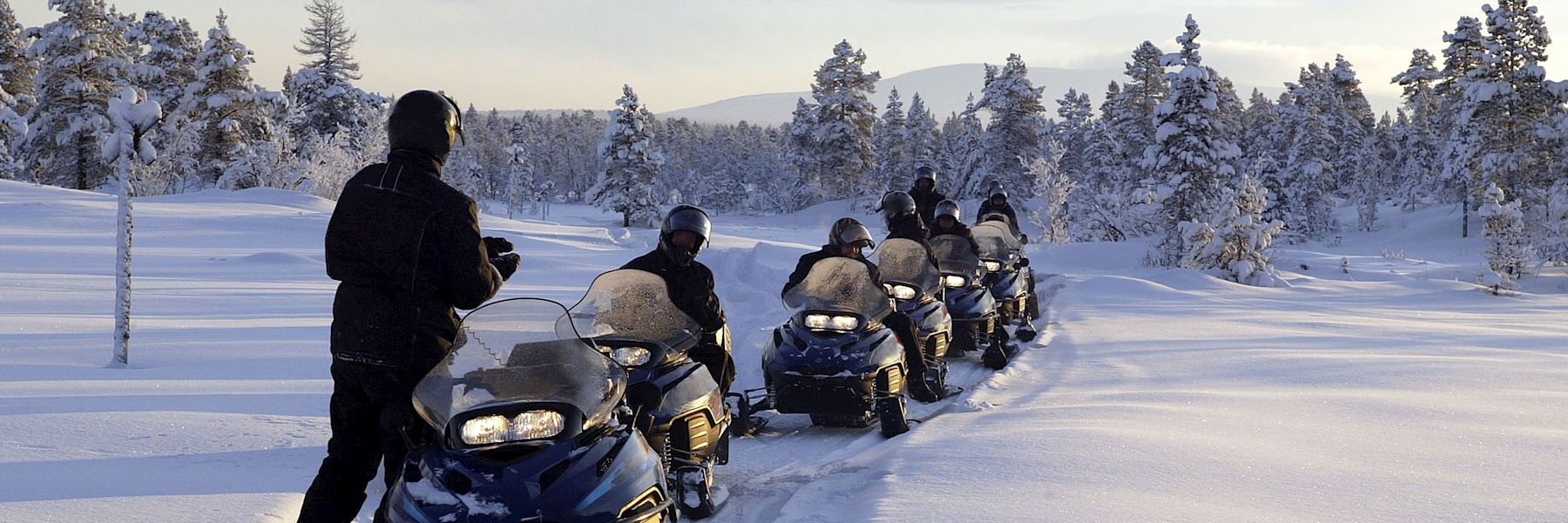 Snowmobiling in Mont Tremblant