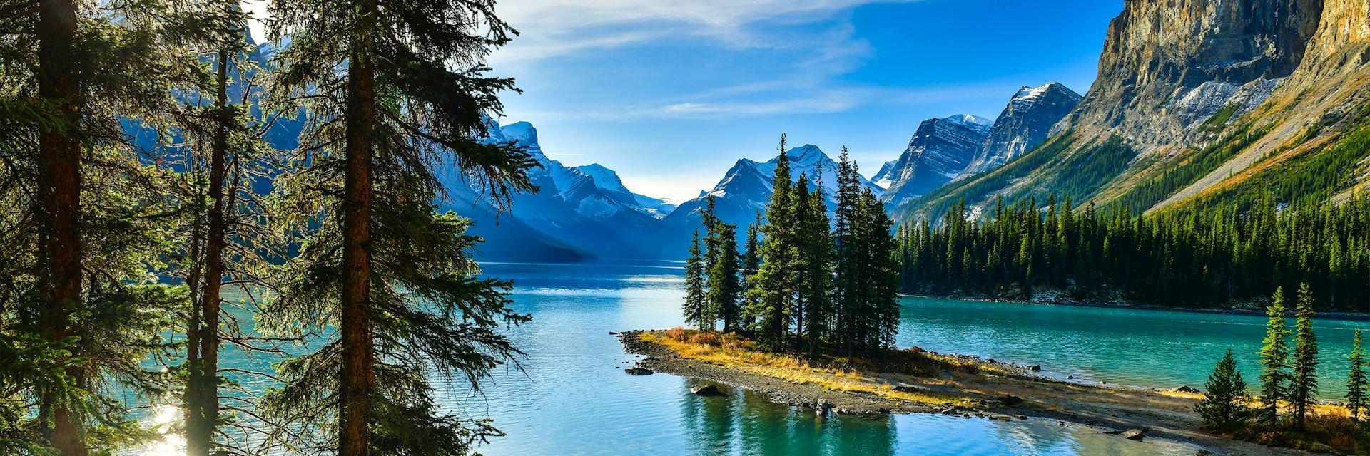 Spirit Island in Maligne Lake, Jasper National Park